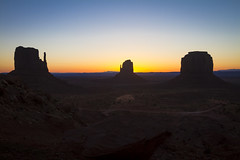 Monument Valley - Arizona, CA (banzainetsurfer) Tags: monumentvalley butte geology desert usa arizona nature natural erosion unitedstates southwest sunrise color colour sun silhouette landscape western johnwayne movies navajo