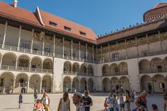 enclosed (stevefge) Tags: krakow poland castle wawel courtyard squares people candid family reflectyourworld