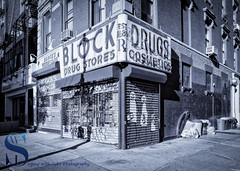 Block Drug Store (Singing With Light) Tags: 16th 2016 alpha6000 lowereastside mirrorless nyc singingwithlight sonya6000 manhattan photography september singingwithlightphotography sony