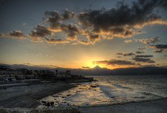 Sunset, Heraklion, Crete (neilalderney123) Tags: 2016neilhoward crete heraklion sunset beach landscape cloud olympus omd 2016neilhoward