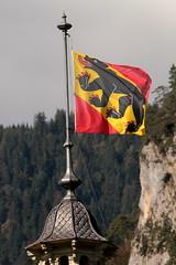 Berner Flagge mit Berner Bär auf einem Haus in Interlaken im Berner Oberland im Kanton Bern der Schweiz (chrchr_75) Tags: albumzzz201610oktober christoph hurni chriguhurni chrchr75 chriguhurnibluemailch oktober 2016 berner wappen bernerwappen bernerbär bern berne berna bär urs bear schweiz suisse switzerland svizzera suissa swiss albumbernerwappen sveitsi sviss スイス zwitserland sveits szwajcaria suíça suiza hurni161003 kantonbern hochformat susisa albumregionthunhochformat thunhochformat kanton