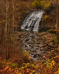 Mill Creek Falls - Cleveland, Ohio. (VonShawn) Tags: autumn fall nature waterfall nikon clevelandohio hdr cataractfalls millcreekfalls photomatix neutraldensityfilter tonemapped ohiowaterfall nikond90 garfieldreservation