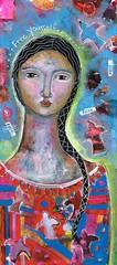 """FEEL FREE"" (sold) Toronto (kitty jujube) Tags: portrait art modern painting mixedmedia"