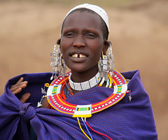 Colourful Masai Tribeswoman (Tara.Quinn) Tags: africa portrait people woman tanzania jewellery tribe serengeti masai tribespeople flickrchallengegroup flickrchallengewinner yahoo:yourpictures=colours2013 yahoo:yourpictures=mytravels
