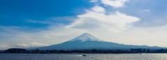 Mt. Fuji Panorama (notjustnut) Tags: travel mountain lake japan landscape fuji traveller fujisan ropeway mtfuji kawaguchilake