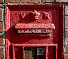 post box out of service (Philip Watson) Tags: closed devon postbox highstreet shut outofservice honiton eastdevon sealedshut