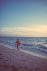 Walking Frame (TerryJohnston) Tags: ocean longexposure nightphotography sunset sky male beach water face night stpetersburg walking gulf florida portait walker fl stpetebeach thegulf thegulfofmexico canoneos5dmarkiii 5dmarkiii