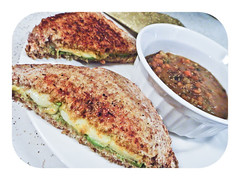 toasted avocado & cheese sandwich  posemanikin (PoseManikin) Tags: cheese bread recipe pepper avocado blog yum salt curry sandwich garlic organic turmeric ezekiel toasted posemanikin