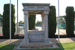 Prospect Memorial at the Prospect Memorial Gardens (Community History SA) Tags: signs adelaide prospect interpretive heritagetrail southaustraliasa175