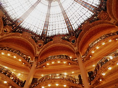 Galeries Lafayette Haussmann (alorollo) Tags: travel paris france colour travelling art glass architecture photography student galeries lafayette haussmann personal ceiling amiens oldfashioned yearabroad galerieslafayettehaussmann