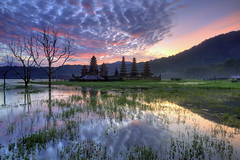 Tamblingan Morning Reflection (Pandu Adnyana (thanks for 100K views)) Tags: morning bali lake sunrise indonesia temple singaraja bedugul munduk tamblingan