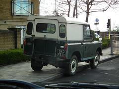 Land Rover Series (kenjonbro) Tags: uk green 1969 kent 4x4 cream series van landrover greenhithe 2a iia kenjonbro fujifilmfinepixhs10 sko763h