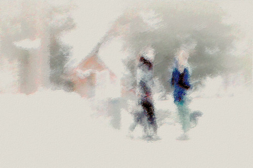 Walking the dog II, Impressionistic