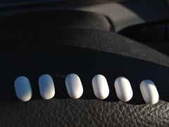 Tic Tac Brigade (enveehaze) Tags: white black monochrome candy gray row line tictacs 365d