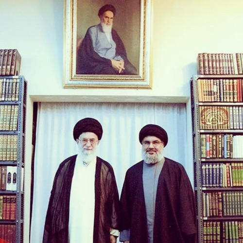 Supreme Leader of the Islamic Revolution His eminence Imam Sayyed Ali Khamenei receives Hizbullah Secre