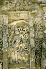 Rajasimheshwaram, or Kailasanathar Temple, Kanchipuram, Tamil Nadu (Ravages) Tags: old sculpture india history monument stone architecture temple sandstone time carving frieze temples ravages tamilnadu kanchi basrelief kanchipuram indianness pallava kailasanathar kancee chandrachoodang