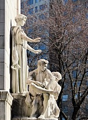 The Antebellum State of Mind 235 (Nathan_Arrington) Tags: ussmainemonument architecturalphotography americanhistory hvanburenmagonigle sculpture attiliopiccirilli williamrandolphhearst beauxarts americanneoclassicism merchantsgate centralpark columbuscircle manhattan nyc newyork sailors memorial allegory symbolism battleship pylon fountains allegorical seashell turtle freestanding lowrelief goddess spanishamericanwar ocean atlanticandpacific statues recumbent antebellum courage peace monument military naval war outdoor park light blue urban street city art history
