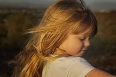 golden hour 3 (Michael Kenan) Tags: sunset arizona mountain phoenix girl golden little daughter az lookout hour blonde phoenixmountainpreserve
