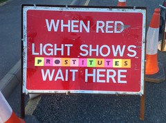 When red light shows prostitutes wait here (alshepmcr) Tags: red streetart sign sex female naked manchester women traffic prostitutes alshepmcr