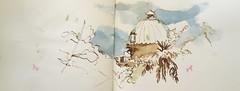 observatoire aquarelle (Julien Schleiffer) Tags: sketch drawing sketchbook strasbourg sketchcrawl croquis