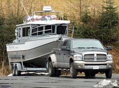 2006-08 Dodge Ram 3500 (B737Seattle) Tags: grey boat tan 2006 dodge hd trailer ram 2008 2007 3500 dually