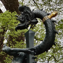 Gold-Collared. The Dragon and the Sword, Narita-san, Narita, Japan (Rana Pipiens) Tags: dragon stgeorge flickraward mygearandme blinkagain naritasanjapan shinshjinaritasanjapan