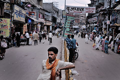 Rickshaw driver (Giannis Papanikos1) Tags: india man asia south east varanasi rickshaw hindu pradesh uttar giannis papanikos