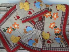 Conjunto de cozinha (Paty Patch) Tags: patchwork jogo cozinha galinhas