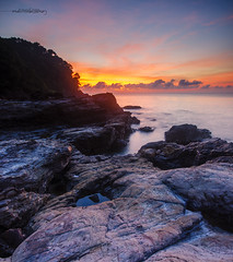Higher Ground of Ostolia. (Ahmad Fahmi (markthedg)) Tags: world sea panorama color beautiful rock stone sunrise landscapes high nikon scenery sigma ground filter lee malaysia stunning 1020 terengganu scapes hig dungun d7000 ostolia