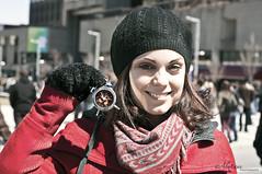Anne se rveille (ENvironnement JEUnesse) Tags: photography anne 21 montreal jeunesse terre caribou avril marche manifestation rveil journe matin environnement planete satge sonnerie alexane enjeu