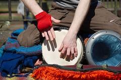 Bongo (leecaine) Tags: street city england music hands bongo chester blanket busker
