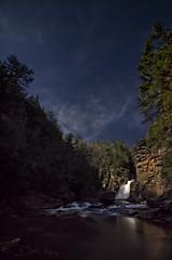 Moonlit Linville Falls (DKNC) Tags: moon night dark waterfall northcarolina moonlit moonlight blueridgeparkway linvillefalls sugarmountainphotography