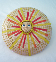 Here Comes the Sun! (playsculptlive) Tags: sculpture sun faces polymerclay clay challenge pcagoe april252013