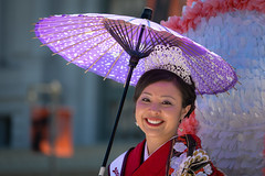 2013 Grand Parade Cherry Blossom Queen Kelly Yuka Walton (EXPLORED) (AnotherSaru) Tags: sf sanfrancisco umbrella grand parade kimono float 2013 northerncaliforniacherryblossomfestival cherryblossomqueen kellyyukawalton