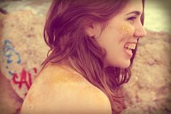 Love summer. (Olga Ferrer Saladi) Tags: light summer portrait espaa sun art luz beach water girl lady landscape spain sand aqua europe surf expression free tranquility catalunya lightning blondehair effect garraf vilanova freeland transmit disconnection expresion costadorada 2013 impressedbeauty flickraward purpurin