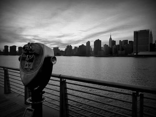 Long Island Viewpoint (B&W)