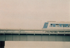 ZugSmena (Hauptillusionator) Tags: bridge film analog train 35mm vintage xpro haze fuji cross zug 400 dreamy analogue process 8m milky smena sensia