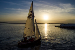 Plain Sailing (Paul's Picx) Tags: sunset sea water boat sailing boating sail westkirby irishsea wirralmerseyside lakemarine