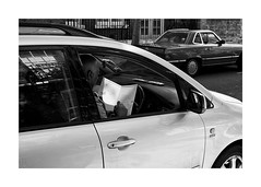 best wishes (jrockar) Tags: birthday street blackandwhite bw 3 man guy london window car writing canon lens prime mono photo mark candid cab taxi iii 14 best card madness wishes driver 5d cabbie moment 50 ef mk ordinary decisive 5014 ordinarymadness