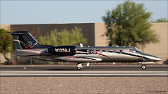 Gates Learjet 35 N135AJ (Tom_Morris Photos) Tags: jet airambulance scottsdaleairport sdl medicalflight learjet35 gateslearjet ksdl medicaltransportation angelmedflight n135aj