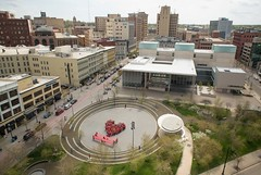 Aerial View (ionnature) Tags: red love circle is parks rosa shirts until equal grandrapidsmichigan