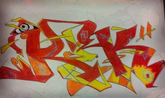 eye c u REK (KO360) Tags: black graffiti book sketch piece rva rek flickrandroidapp:filter=berlin