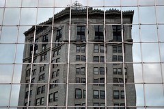 Distorted Reflection (allysoyjix) Tags: windows reflection window buildings dark photography cool nikon nik graysky greysky greyskies coollighting unsaturated decolored grayskies afga reflectionshot cooltexture nikond5100