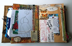 Smashbook pages 2 (Jennibellie) Tags: art book sketch smash artist pages ephemera page scrap artjournal smashbook