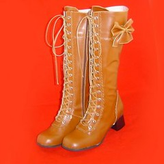 0.18 Inch High Heel Light Curry Lolita Boots (ocrun_lolita) Tags: light high inch boots curry lolita heel 018