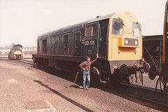20171 29th April 1984 Ayr Depot (Ian Sharman 1963) Tags: train chopper diesel c engine loco class 1984 april depot 20 ayr 29th 20171