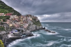 Manarola Rain Day (Opiesse) Tags: sea parco rain clouds nikon long exposure day nd terre filters manarola hdr ops cinque density neutral nazionale spezia opiesse