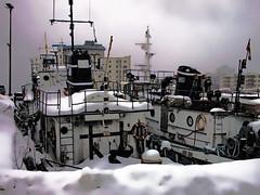 P2141809 copy (Tony Gasparetto) Tags: city winter sky urban snow dock ship tugboat