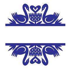 split-swans-damask (emily dyer) Tags: silhouette svg papercut diecut