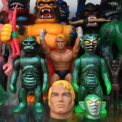 New guys on the HxS shelf! (fun9us) Tags: man monster mr gorilla alien x stretch armstrong ju mecha mg2 andro hirota hxs saigansho